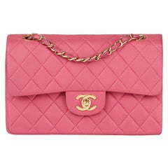 2003 Chanel Pink Quilted Lambskin Small Classic Double Flap Bag