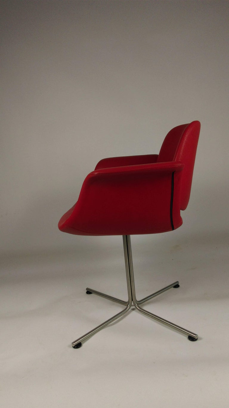 Danish 2003 Foersom and Hjorth-Lorenzen Flamingo Armchair in Red Leather For Sale