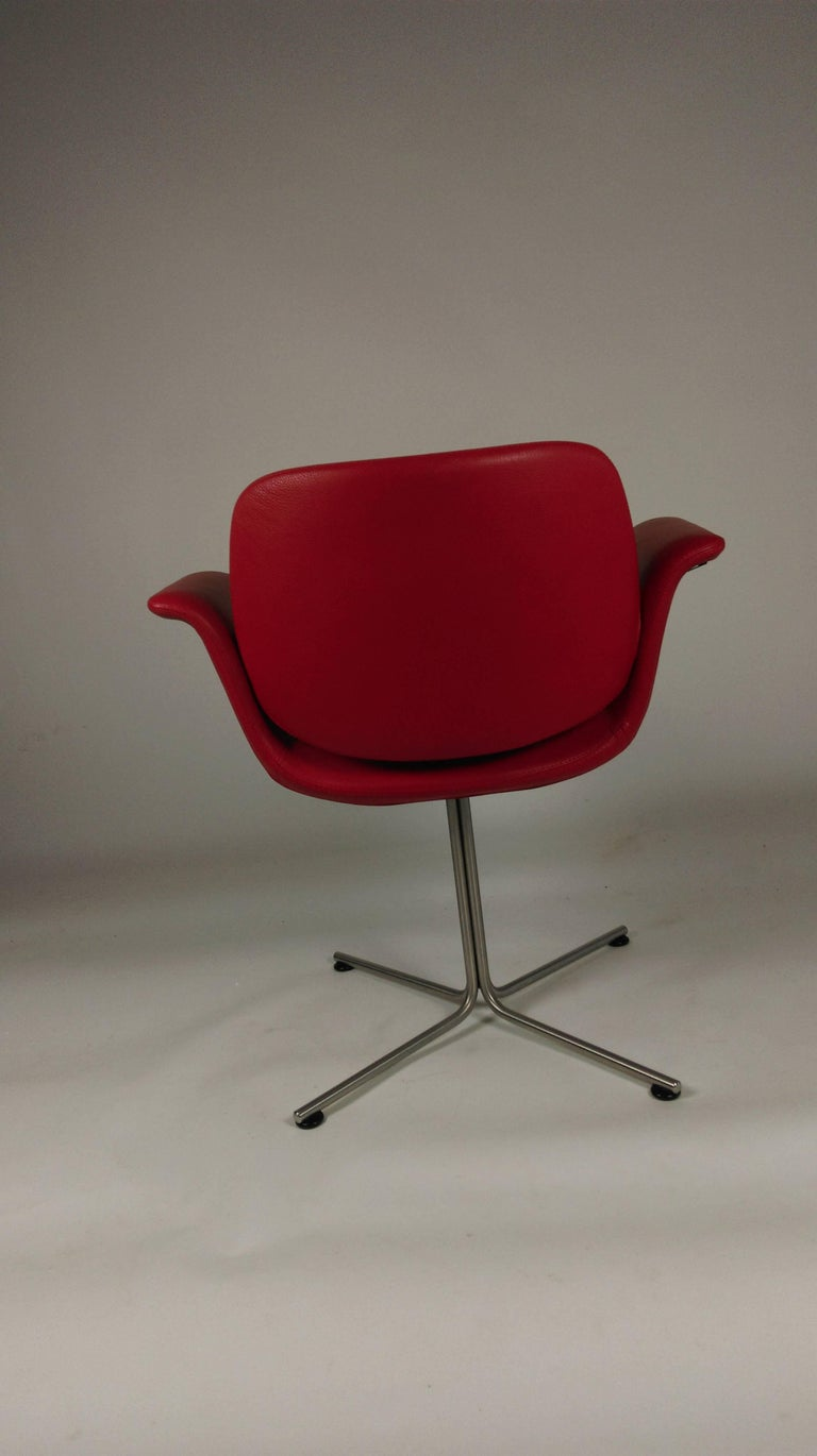 Contemporary 2003 Foersom and Hjorth-Lorenzen Flamingo Armchair in Red Leather For Sale