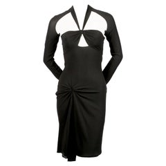 2003 GUCCI by TOM FORD black silk dress with cut-outs