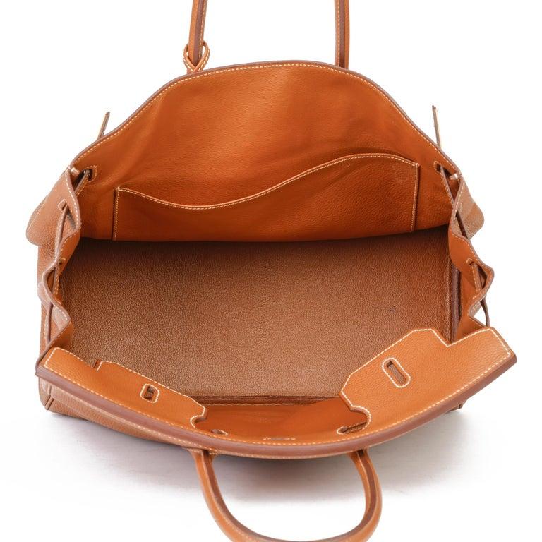 2003 Hermes Gold Togo Leather Birkin 35cm For Sale 6