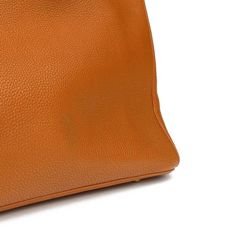 2003 Hermes Gold Togo Leather Birkin 35cm For Sale 7