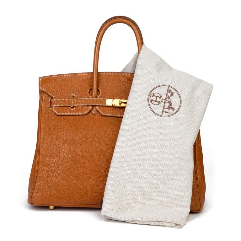2003 Hermes Gold Togo Leather Birkin 35cm For Sale 8