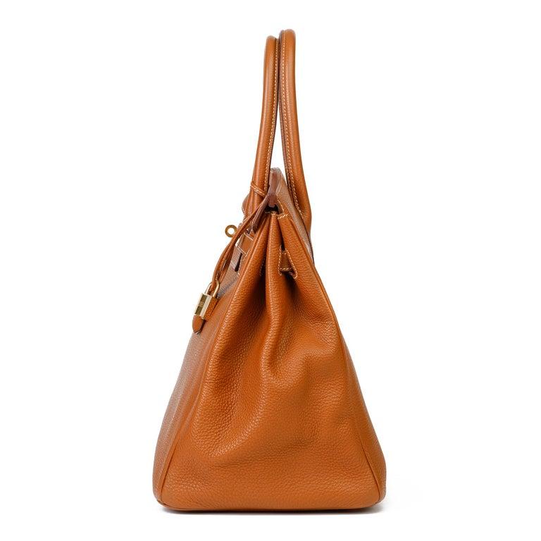 Women's 2003 Hermes Gold Togo Leather Birkin 35cm For Sale