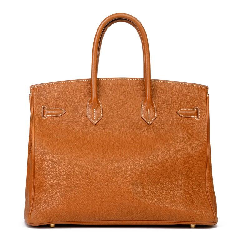 2003 Hermes Gold Togo Leather Birkin 35cm For Sale 1