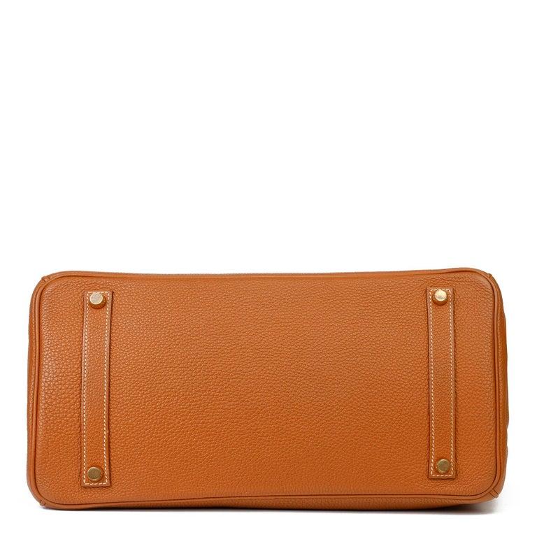 2003 Hermes Gold Togo Leather Birkin 35cm For Sale 2