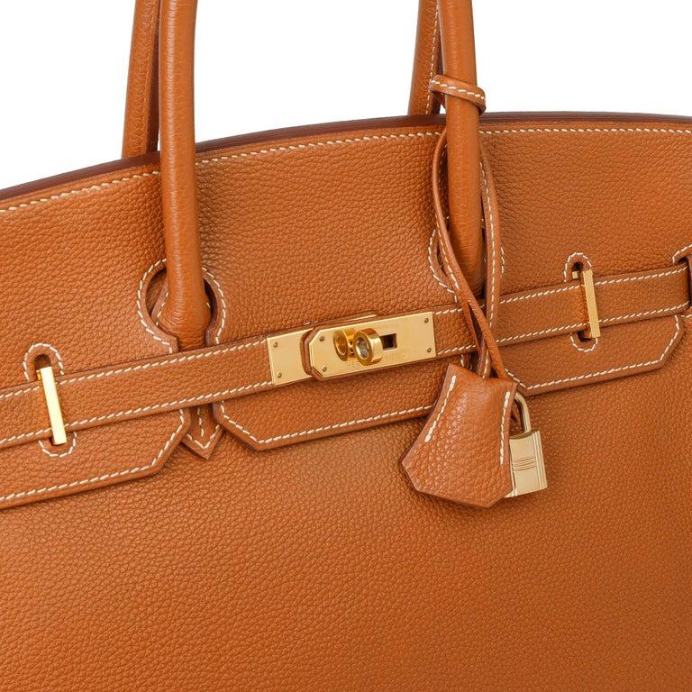 2003 Hermes Gold Togo Leather Birkin 35cm For Sale 3