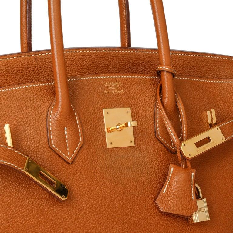 2003 Hermes Gold Togo Leather Birkin 35cm For Sale 4