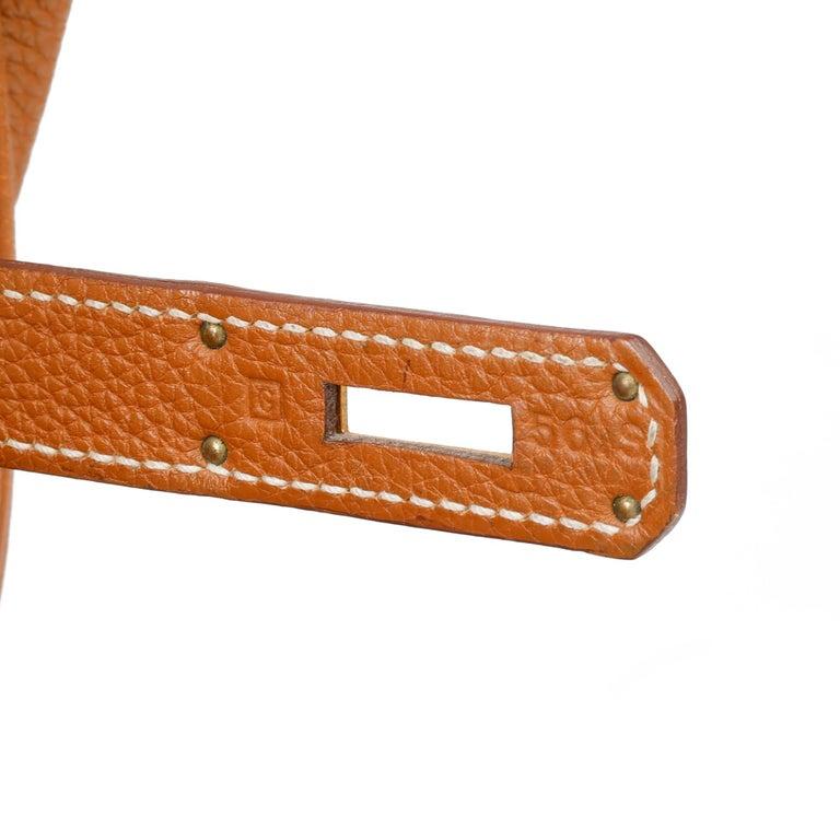 2003 Hermes Gold Togo Leather Birkin 35cm For Sale 5