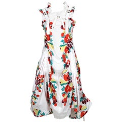 2003 JUNYA WATANABE fruit printed cotton parachute runway dress