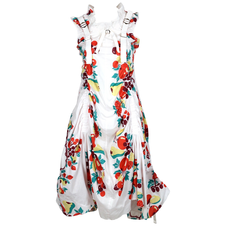 2003 JUNYA WATANABE fruit printed cotton parachute runway dress