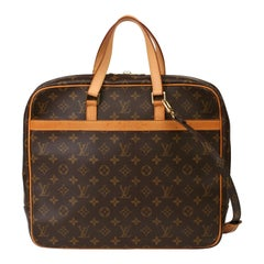 2003 Louis Vuitton Brown Monogram Canvas & Vachetta Porte-Documents Briefcase