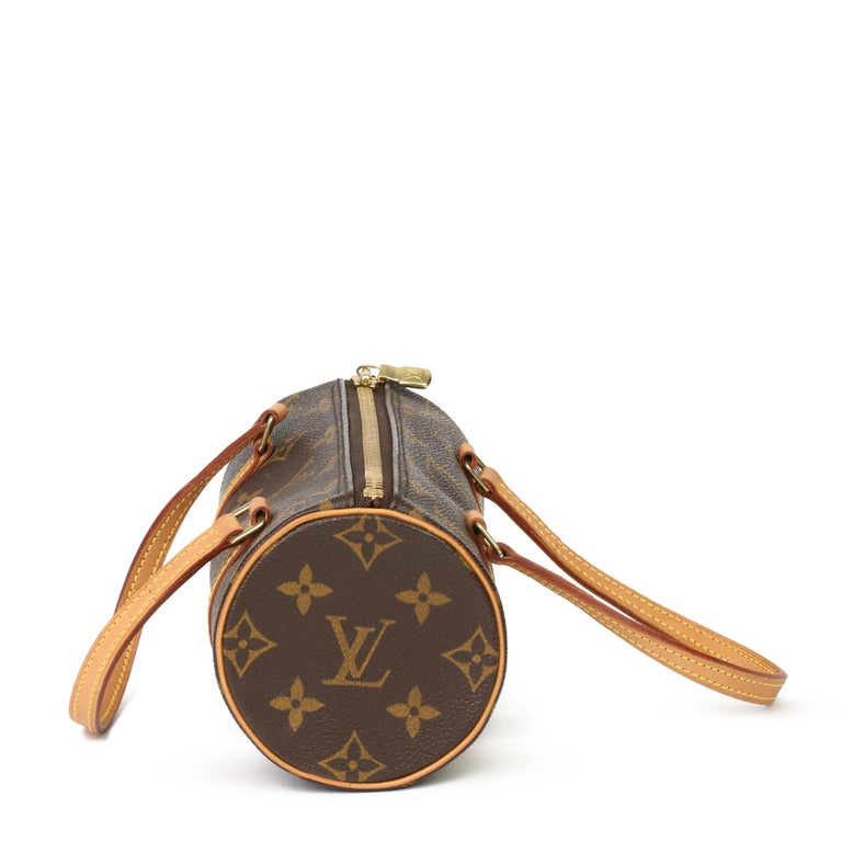 2003 Louis Vuitton Brown Monogram Coated Canvas & Leather Mini Papillion In Excellent Condition For Sale In Bishop's Stortford, Hertfordshire