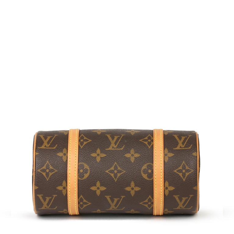 2003 Louis Vuitton Brown Monogram Coated Canvas & Leather Mini Papillion For Sale 1