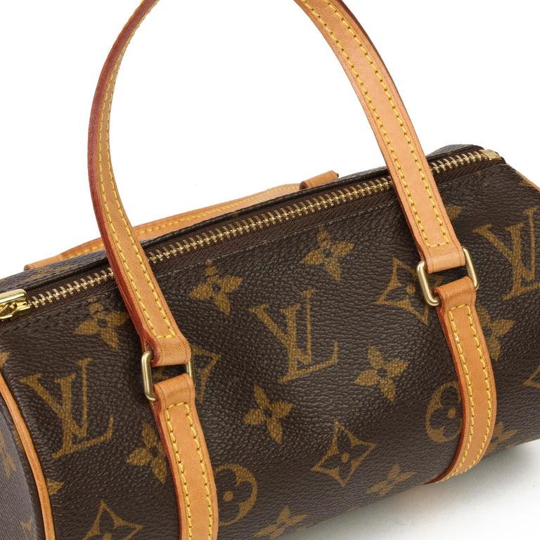 2003 Louis Vuitton Brown Monogram Coated Canvas & Leather Mini Papillion For Sale 2