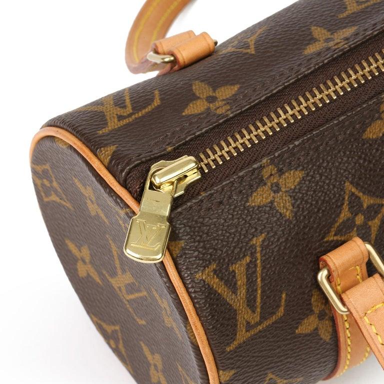 2003 Louis Vuitton Brown Monogram Coated Canvas & Leather Mini Papillion For Sale 3