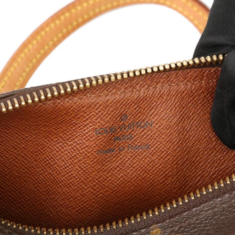 2003 Louis Vuitton Brown Monogram Coated Canvas & Leather Mini Papillion For Sale 4