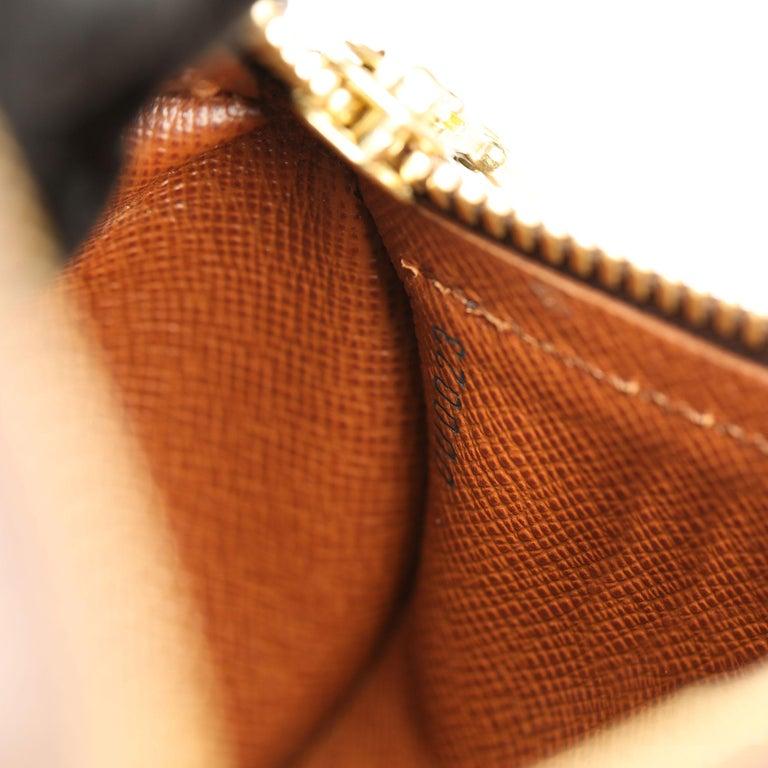 2003 Louis Vuitton Brown Monogram Coated Canvas & Leather Mini Papillion For Sale 5