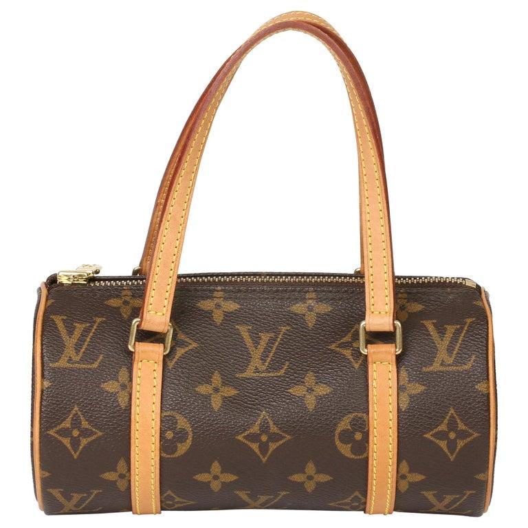2003 Louis Vuitton Brown Monogram Coated Canvas & Leather Mini Papillion For Sale