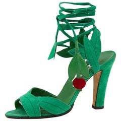 2003 Remake of the 1971 'Ivy Shoe' By Manolo Blahnik for Ossie Clark in Green