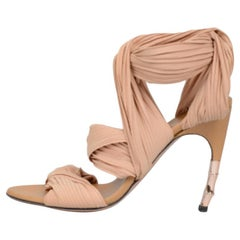 2003 Tom Ford for Gucci Nude Sandals w/ Bamboo Heel