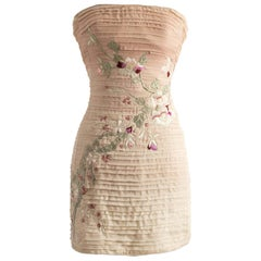 2003 Vintage Tom Ford for Gucci Embroidered Dress