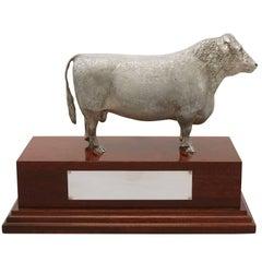 2004 Contemporary Sterling Silver Presentation Bull