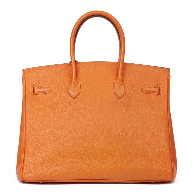 Women's 2004 Hermès Orange H Togo Leather Birkin 35cm For Sale