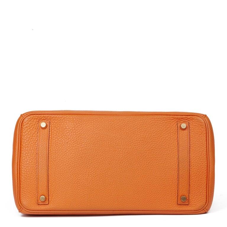 2004 Hermès Orange H Togo Leather Birkin 35cm For Sale 1