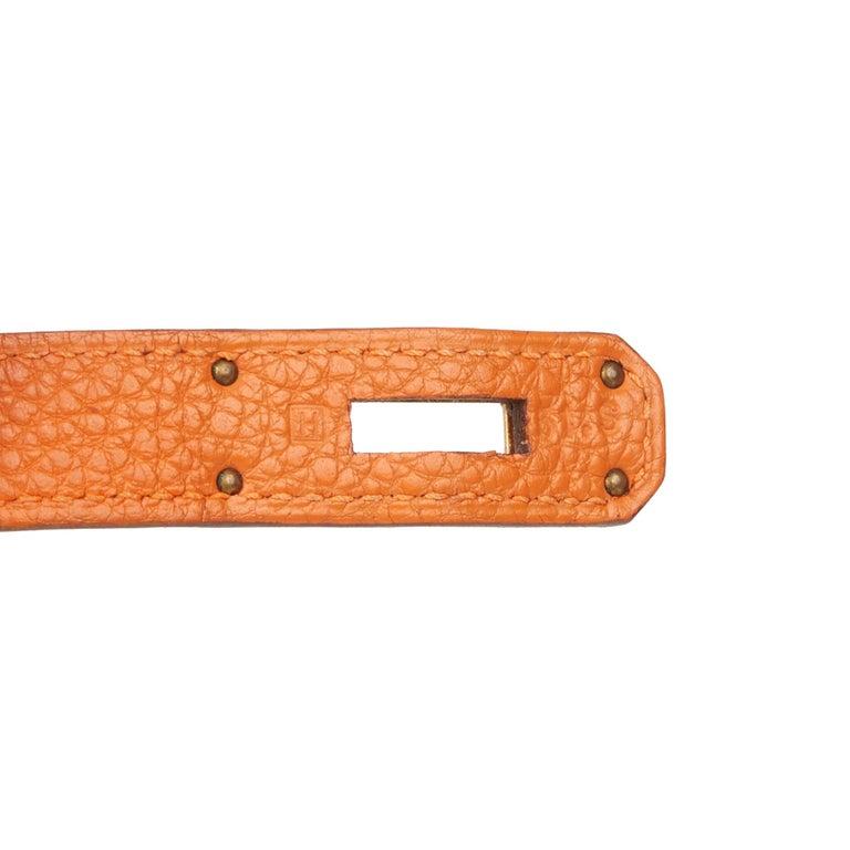 2004 Hermès Orange H Togo Leather Birkin 35cm For Sale 4