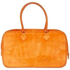 2004 Hermès Orange H Veau Doblis Plume Elan 28cm