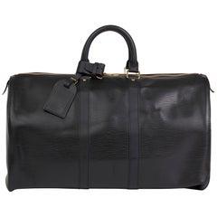 2004 Louis Vuitton Black Epi Leather Keepall 45