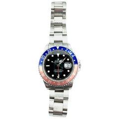 "2004 Rolex GMT Master II ""Pepsi"" Bezel Stainless Steel Watch"