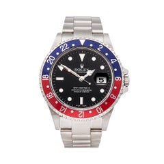 2004 Rolex GMT-Master II Pepsi Stainless Steel 16710 Wristwatch
