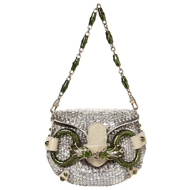 2004 Vintage Rare Tom Ford For Gucci Crystal Clutch from the ad campaign For Sale