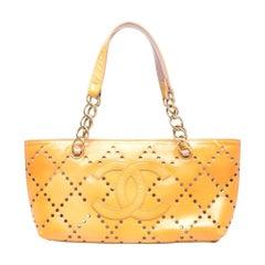 2004s Chanel Yellow Banana Leather Tote Bag