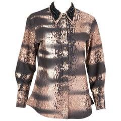 2004s Prada Brown Cotton Shirt
