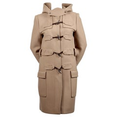 2005 BALENCIAGA by NICOLAS GHESQUIERE tan wool runway coat with toggles