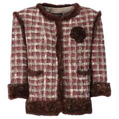 2005 Chanel Furry Tweed Jacket