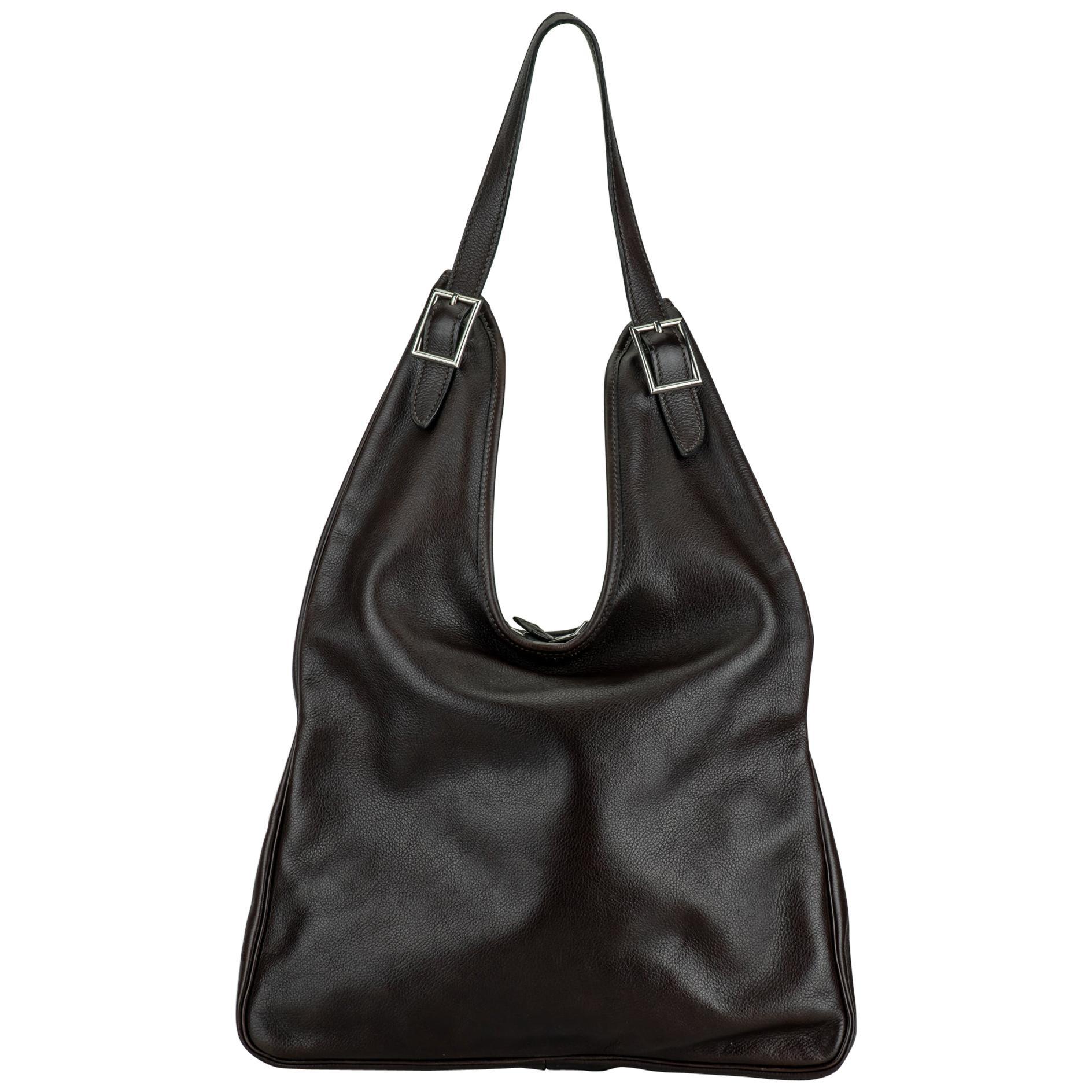 2005 Hermès Brown Masai Shoulder Bag