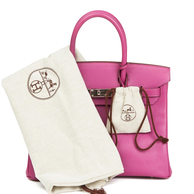2005 Hermès Cyclamen Epsom Leather Birkin 30cm For Sale 5