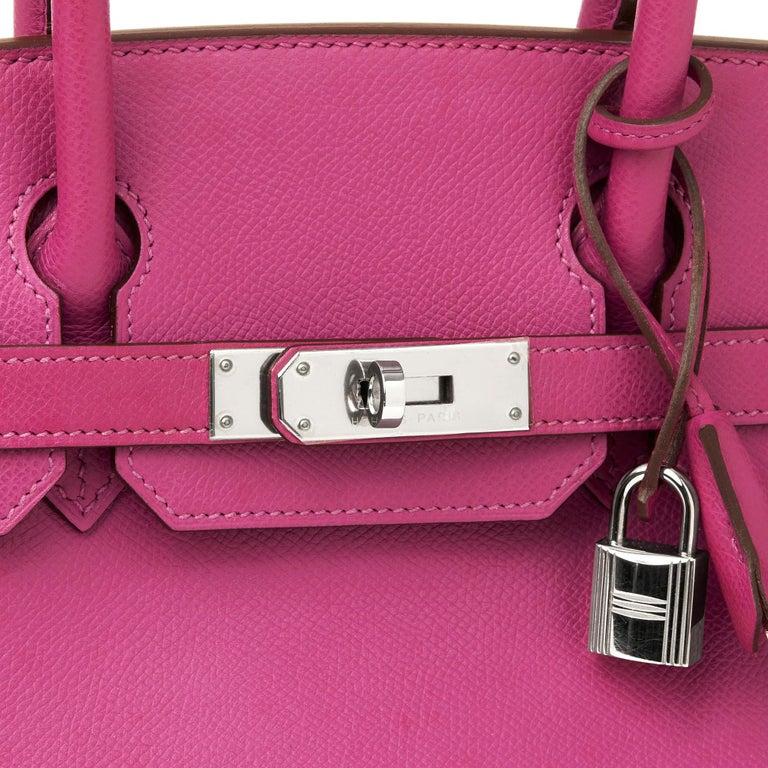2005 Hermès Cyclamen Epsom Leather Birkin 30cm For Sale 1