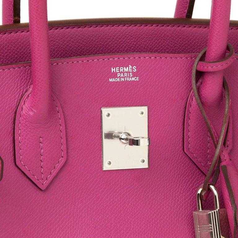 2005 Hermès Cyclamen Epsom Leather Birkin 30cm For Sale 2