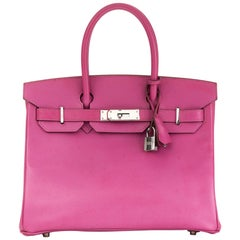 2005 Hermès Cyclamen Epsom Leather Birkin 30cm