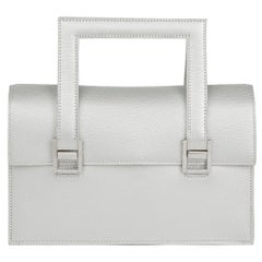 2005 Hermès Silver Metallic Chevre Leather 265 PM