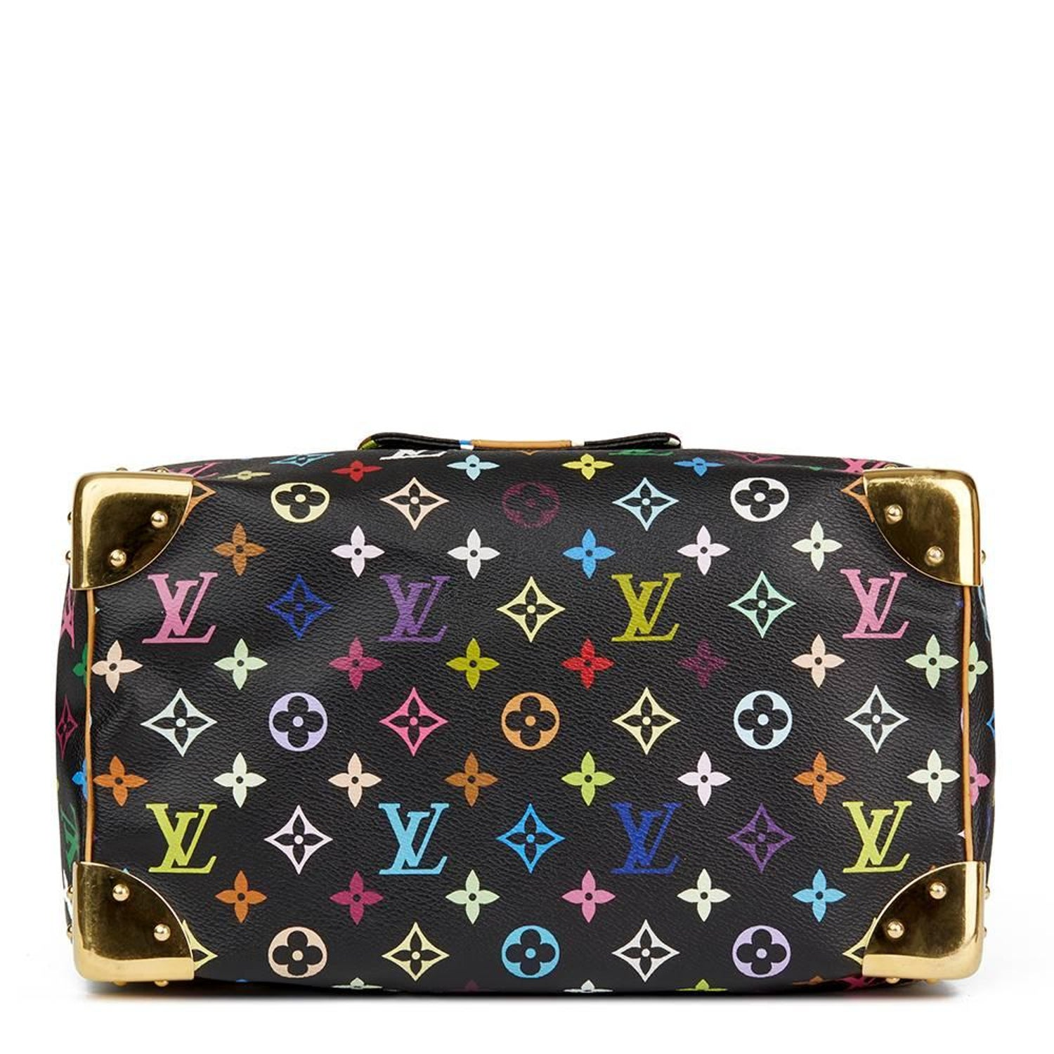 d8adf8acdd8 2005 Louis Vuitton Black Multicolour Monogram Coated Canvas Speedy 30 at  1stdibs