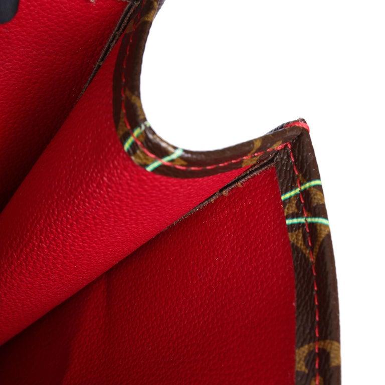 2005 Louis Vuitton Cherries Brown Monogram Coated Canvas Murakami Sac Plat For Sale 6