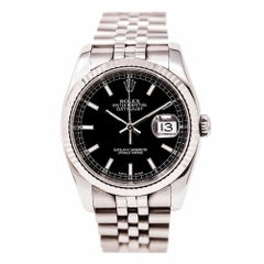 2005 Rolex Datejust 116234 Black Dial