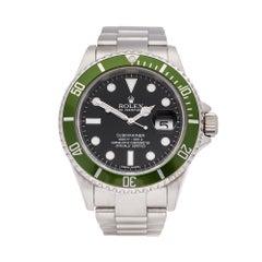 2005 Rolex Submariner Kermit Stainless Steel 16610LV Wristwatch