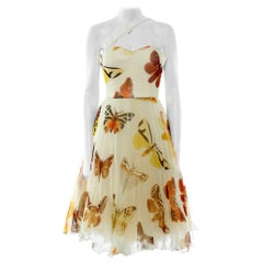 2005 Vintage Iconic Alexander McQueen butterfly print dress